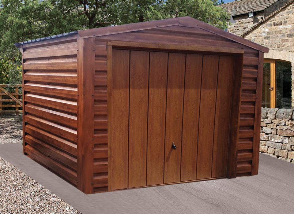 Steel Garage Oak