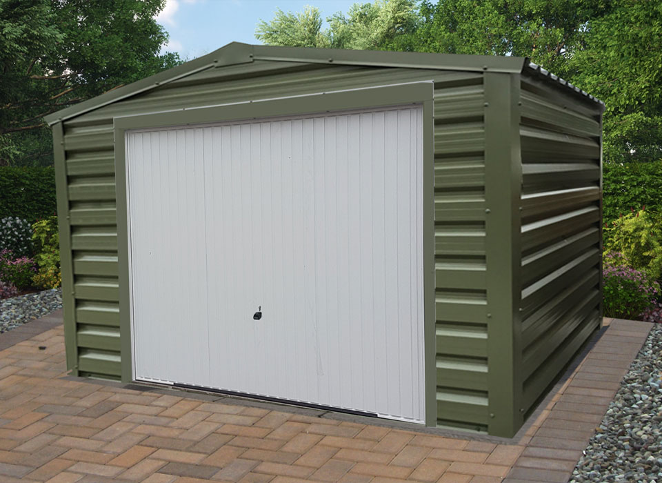 Olive Green Garage