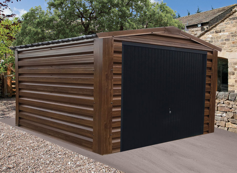 Steel Garage Walnut