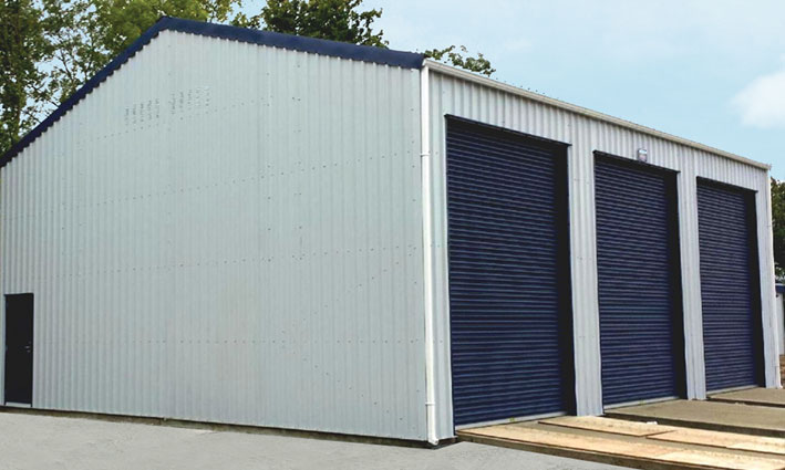 Triple Bay Steel Garage